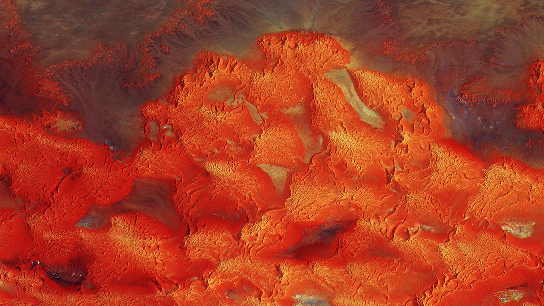 Песчаные дюны Ливии /©ESA