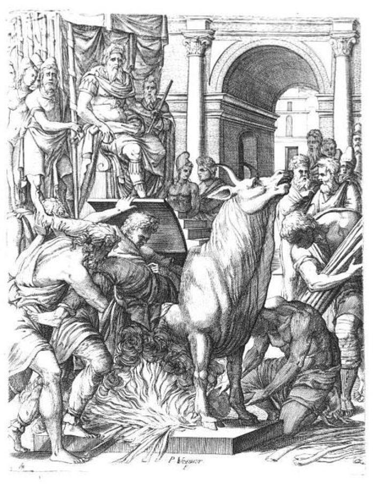 Рисунок казни в медном быке / ©Flickr