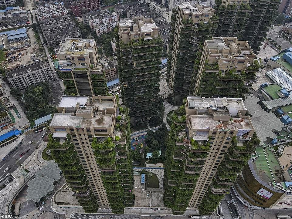 Вид на жилой комплекс Qiyi City Forest Garden в Чэнду, Китай / ©Агентство по охране окружающей среды США