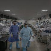 Полевой госпиталь для пациентов с коронавирусом